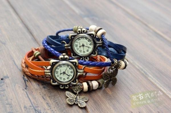 Винтажные часы с бабочкой