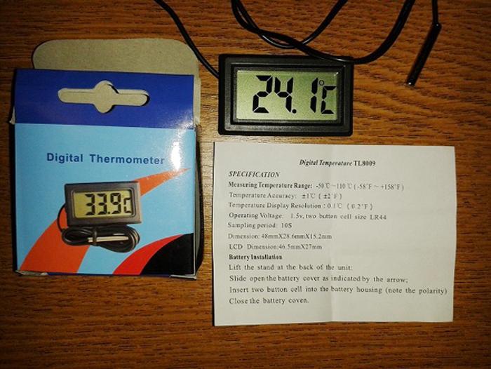 комплектация цифрового термометра