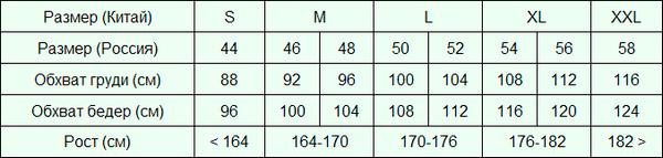 размеры на али для женщин таблица