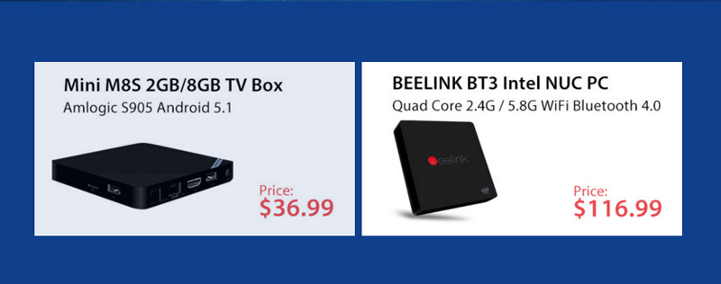 мини-компьютеры и TV-box Beelink