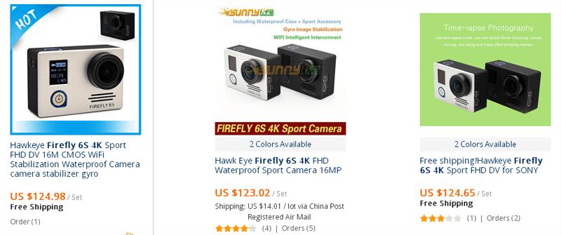 купить экшн камеру firefly можно на алиэкспресс и в магазине Gearbest