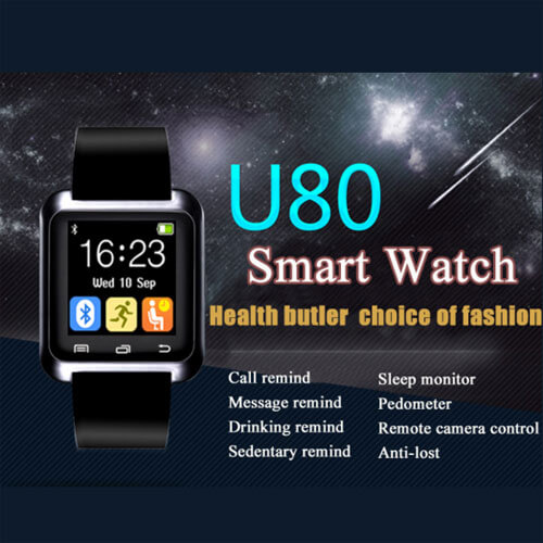 умные часы U80 по цене 7,99 usd