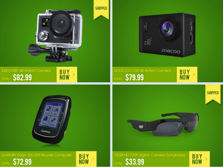 экшн камеры, очки, карманные велокомпьютеры в распродаже