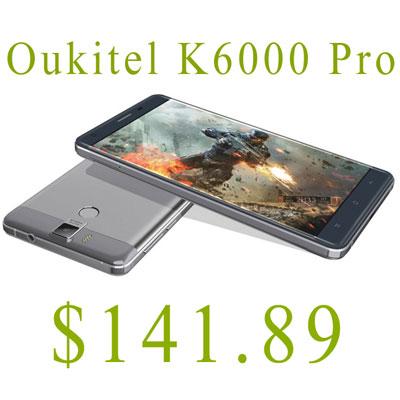 смартфон с большой батареей OUKITEL K6000 PRO