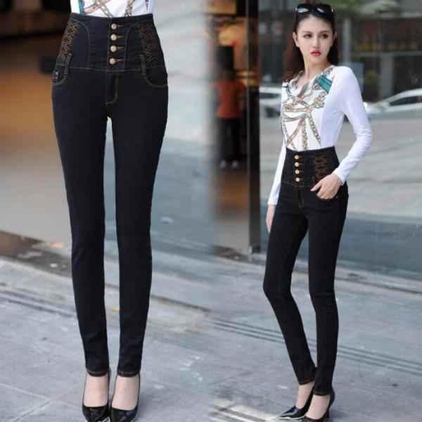 женские джинсы завышенная талия