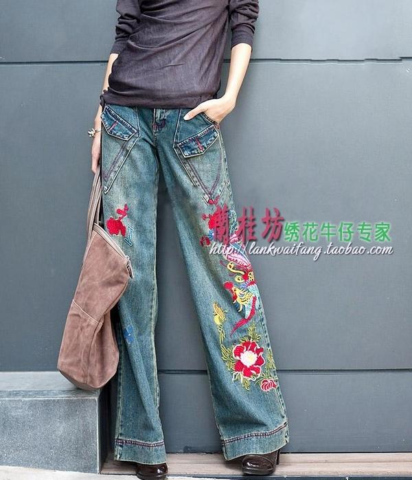 женские джинсы широкие