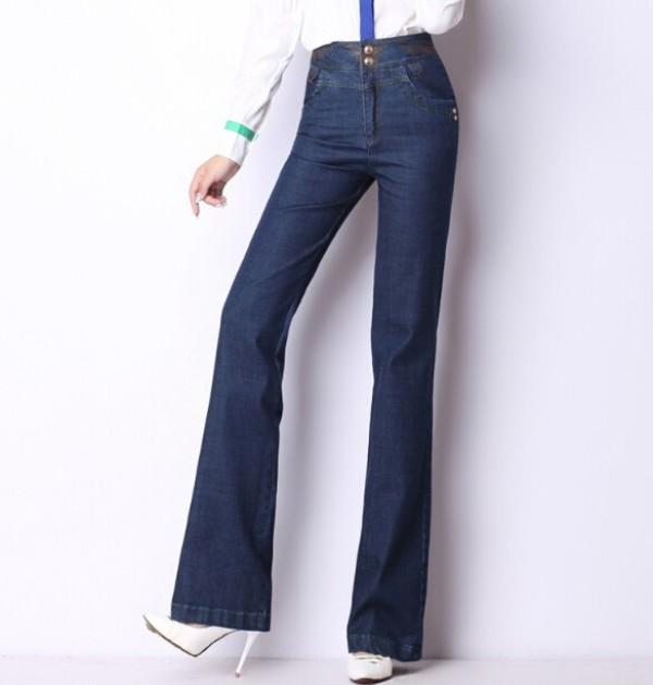 женские джинсы широкие с завышенной талией