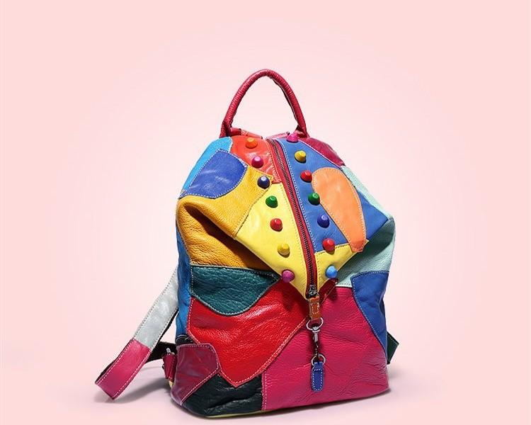 рюкзак из лоскутков