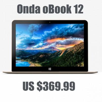 Акция на мощный ультрабук Onda oBook 12