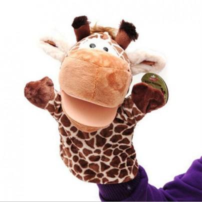 Детская игрушка жираф марионетка.