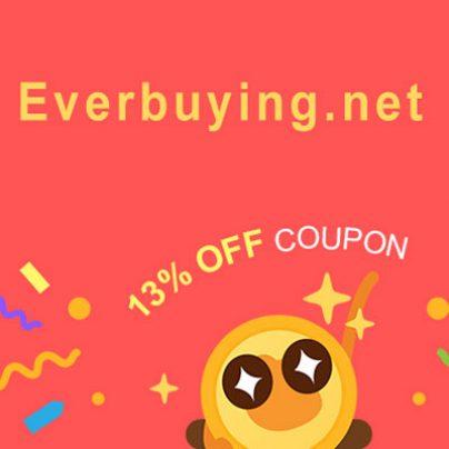 13% скидка в магазине Everbuying